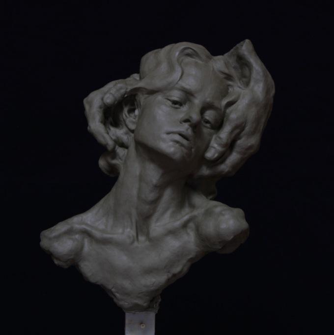 «Take My Pain Away», resin on wooden base, 2016