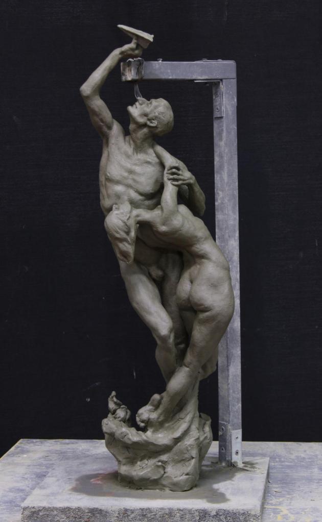 «The Unbearable Lightness», bronze on marble base, 2016
